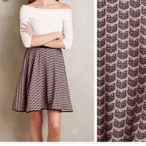 Anthropologie Eva Franco Pink Fox Midi Skirtsize 6
